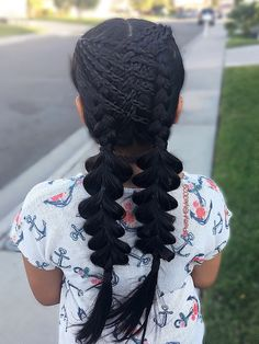 By @PrettyHStyle3029 #hairstyle peinado #trenza #hair #pullthroughbraid #crisscrossbraids #braids #peinadoparaniñas