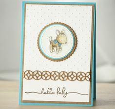Baby- & Geburtskarten - Babykarte, Karte zur Geburt eines Junges - ein Designerstück von Eutopia bei DaWanda Diy Cards Baby, Animal Cards, Baby Kind, Stampin Up Cards, Cardmaking, Flower Arrangements, Albums, Scrapbooking, Etsy