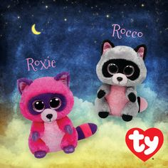 Roxie and Rocco the Racoon Beanie Boos!