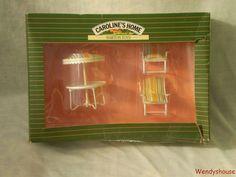 BOXED VINTAGE BARTON CAROLINES HOME DOLLS HOUSE GARDEN FURNITURE FREE UK P & P   eBay