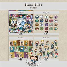 "SoMa Design Study Time - Bundle This bundle is an option to buy all of the ""Study Time"" products and save. Digital Scrapbooking, Study, Kit, Design, Studio, Studying, Design Comics, Research"