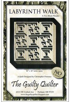 Quilt Pattern - The Guilty Quilter - Labyrinth Walk | Shibori Dragon