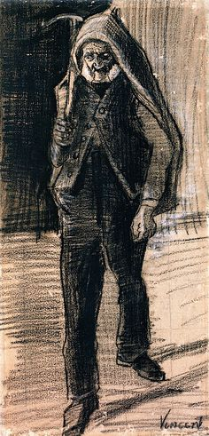 The Athenaeum - Man with an Axe on His Shoulder (Vincent van Gogh) 1882