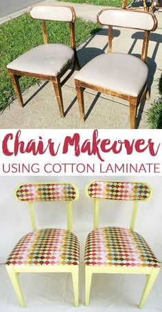 Tula Pink Chair Makeover - Before & After