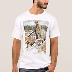 Rabbit Hunting Vintage Hunter Outdoors T-Shirt - click/tap to personalize and buy