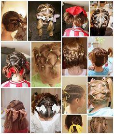Little girls hair do's - super cute