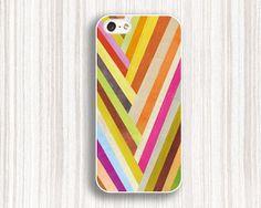 stripe iphone casevivid iphone 5s casegrain iphone 5c by Emmajins, $9.99