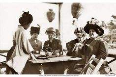 Women in 1910 gather for tea at a Japanese Tea House on Lover's Point in Pacific Grove, now the location of Beach House restaurant. Photo: Courtesy Of Pat Hathaway, California Views