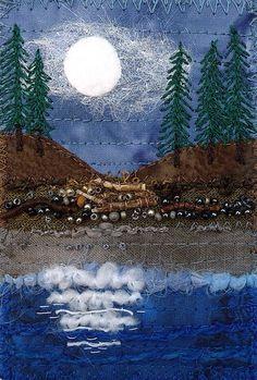 Moon landscape postcard
