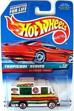 Mattel Hot Wheels 1998 1:64 Scale Tropicool Series White Ice Cream Truck Die…