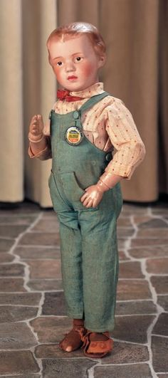 Private Collections: 76 An All-Original American Wooden Doll,Model 207,by Schoenhut