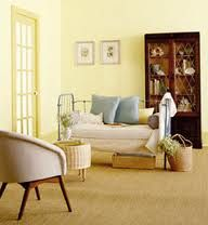 Behr Moon Dance with Feather Gold and Bayside -  Nice color palette!
