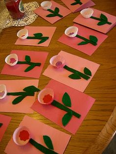 Toddler-made Flower Valentines