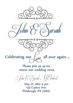 25 years Vow Renewal Invitation  | Vow renewal invite