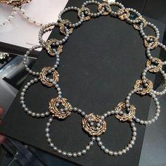 René Lalique. The loveliest Seed Pearl and Diamond Necklace by René Lalique, c.1905 @sothebys #sothebysjewels #renelalique