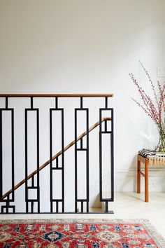 Studio Muir is a boutique, San Francisco-based design firm (led by Kenly Lambie Shankman) dedicated to creating innovative and beautiful modern spaces. Steel Railing Design, Balcony Railing Design, Wood Railing, Railings, Stair Railing, Stair Design, Railing Ideas, Staircase Ideas, Bannister