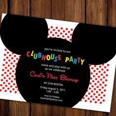 Mickey Mouse Birthday Party invitation
