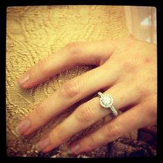 Capri Jewelers Arizona ~ www.caprijewelersaz.com #Danhov ring, #THEIA #Bridal @martha_weddings