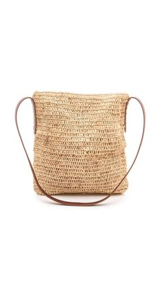 Bop Basics Raffia Cross Body Bag - Natural