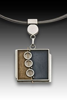 3 Circle Square Necklace ~ Eileen Sutton