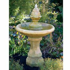 One Tier Roman Pinecone Fountain LO3573