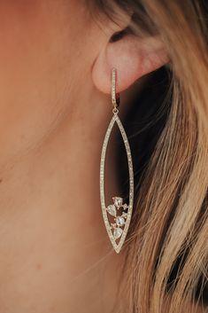 ReClaimed Fabric Blush /& Brown Burnout Print Earrings