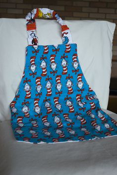 Dr #Seuss fabric aprons
