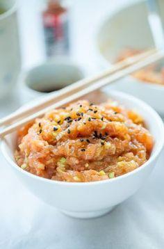 Tatar z łososia jak w Sushi Zushi - Gotuje, bo lubi