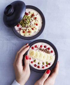 Tuorepuuro | Maku Culinary Arts, Gluten Free Recipes, Acai Bowl, Camembert Cheese, Favorite Recipes, Ethnic Recipes, Food, Breakfast Ideas, Glutenfree