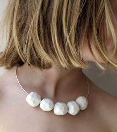 Olivia Monti Necklace: Rocks White 2011 Coloured porcelain, silver closure