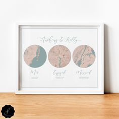 Met Engaged Married Custom Map Gift, First Anniversary Gift For Couple, Anniversary Hello Will You I Do 3 City Map Printable Wall Art