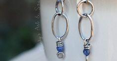 Earrings Everyday: Winter Blues. Cindy's Art & Soul.