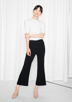 & Other Stories | Cropped Kick-Flare Trousers
