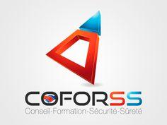 Réalisation du logo de la société de formation aux métiers de la sécurité  http://www.keacrea.com/nos-references/coforss
