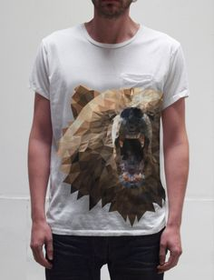 i want this totally awesome geometric bear shirt with its dashing pocket!