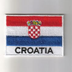 Croatia flag embroidered patches