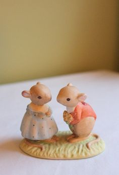 Porcelain Figurine. Tiny Talk Boy and Girl by AnythingDiscovered