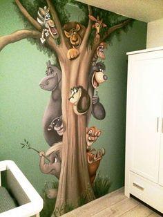 muurschildering - disney