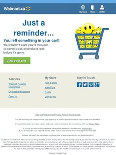 Walmart  Abandoned Cart Emails    Abandoned And Email