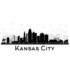Kansas city missouri skyline silhouette with vector Skyline Painting, City Painting, Skyline Art, Jefferson City Missouri, Kansas City Missouri, Skyline Tattoo, City Aesthetic, Aesthetic Girl, Kansas City Skyline