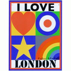 I Love Recycling Peter Blake is a gorgeous limited edition piece of pop art and signed tin plate - plus I love London by Peter Blake and I Love Vintage Pop Art, Art Prints For Sale, Fine Art Prints, Beatles, Hamilton, James Rosenquist, Wessel, Unusual Presents, Peter Blake