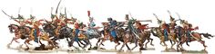 Berliner Zinnfiguren | Russian Hussars in Battle | purchase online