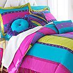 Seventeen® Susette Stripe Comforter Set and More