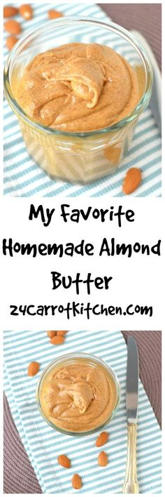 Click for the recipe to My Favorite Homemade Almond Butter! |grain free, gluten free, dairy free, paleo, almond butter, vegan, how to, tutorial, nut butter