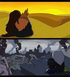 Ice King and Marceline, Simon and Marcy - Adventure Time