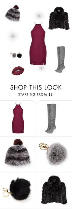 """""""Untitled #19"""" by fefe-tifanie ❤ liked on Polyvore featuring Topshop, Surell, Gina Bacconi and Lime Crime"""