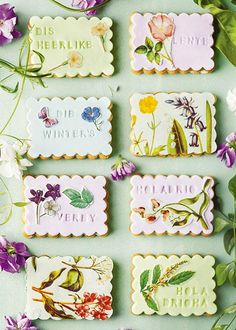 Shortbread biscuits decorated with flower and butterfly motifs – 11384490 – Get high-quality interior design images for your projects – rights-managed and royalty-free Marshmallow Cookies, Marshmallow Fondant, African Dessert, Recipe Icon, Shortbread Biscuits, Buy Images, Interior Design Images, South African Recipes, English Food