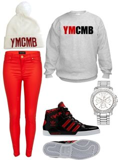 """""""ymcmb"""" by ilovetupac ❤ liked on Polyvore"""