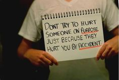 Message of the day... don't hurt people!!! brilliant!!!