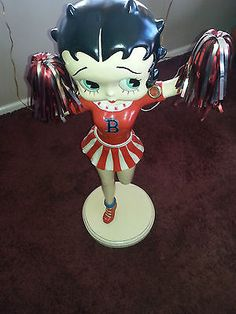 """BETTY BOOP  36"""" 3 FT CHEERLEADER LIFE SIZE STATUE  LOCAL PICK UP"""